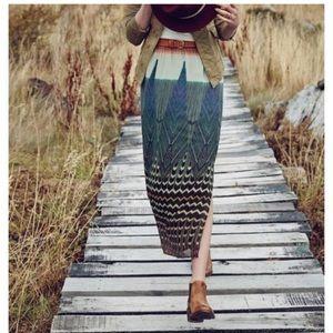 Anthropologie Maeve Pluma Maxi Skirt